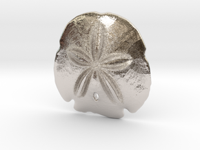 Arrowhead Sand Dollar Pendant in Platinum