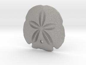 Arrowhead Sand Dollar Pendant in Aluminum