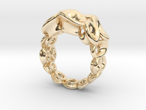 Mo-at size Double Ring  (From $31) in 14K Yellow Gold: 6.5 / 52.75