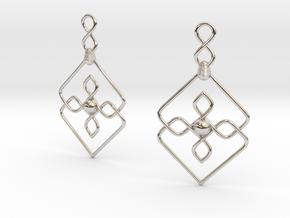 Ck Earrings S in Rhodium Plated Brass