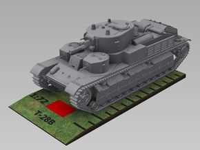 1/72nd scale T-28 soviet medium tank in Smooth Fine Detail Plastic