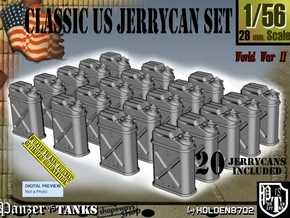 1/56 US Jerrycan x20 Set101 in Smooth Fine Detail Plastic