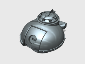 Phobos Battle Tank: Base Turret (Convertible) in Smooth Fine Detail Plastic