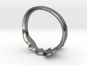 Drip Ring in Polished Silver: 8 / 56.75