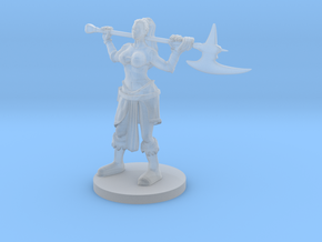 Female Mountain Barbarian in Smooth Fine Detail Plastic