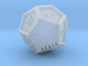 Braille Twenty-sided Die d12 in Smooth Fine Detail Plastic