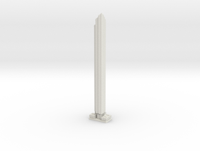 World Trade Center Residential Tower (1:2000) in White Natural Versatile Plastic