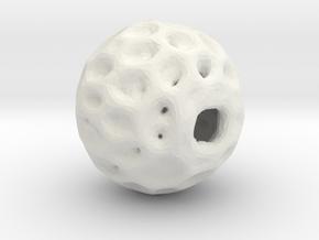An organic hive pendant in White Natural Versatile Plastic