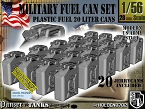 1/56 Military Fuel Can Set201 in Smooth Fine Detail Plastic