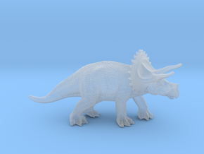 Triceratops 76mm in Smooth Fine Detail Plastic