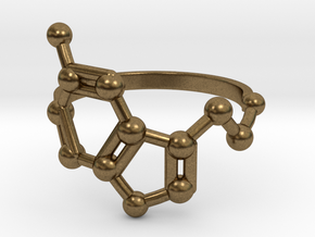 Serotonin (Happiness) Molecule Ring in Natural Bronze: 6.5 / 52.75