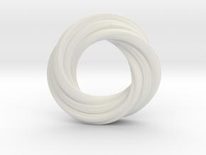 Mobius XI in White Natural Versatile Plastic