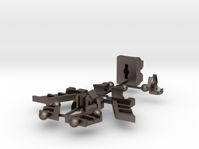 HeadRobot H-02 Thing-O-Wings in Polished Bronzed Silver Steel