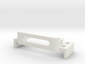 Steering-servo-carrier-low in White Natural Versatile Plastic