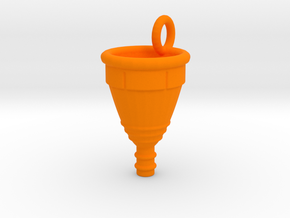 Menstrual Cup Pendant medium in Orange Processed Versatile Plastic