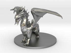 Young Silver Dragon in Natural Silver
