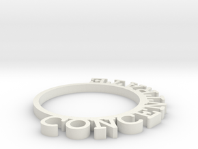D&D Condition Ring, Concentrate in White Natural Versatile Plastic