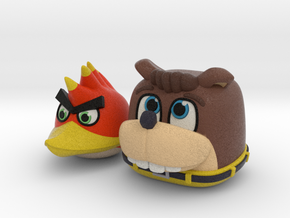 Banjo Kazooie + Angry Birds in Full Color Sandstone