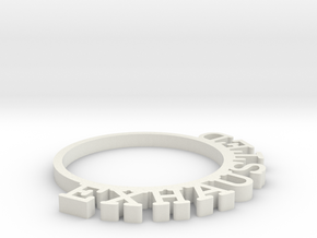 D&D Condition Ring, Exhausted in White Natural Versatile Plastic