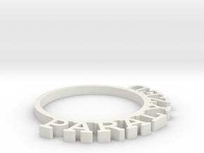 D&D Condition Ring, Paralyzed in White Natural Versatile Plastic