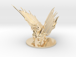 Young Gold Dragon in 14k Gold Plated Brass