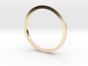 Flat band (various sizes) - 1mm wide in 14K Yellow Gold: 3 / 44