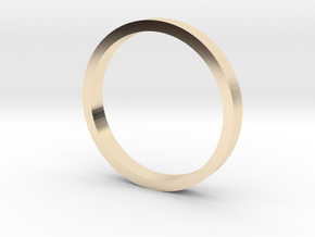Flat band (various sizes) - 2mm wide in 14K Yellow Gold: 3 / 44
