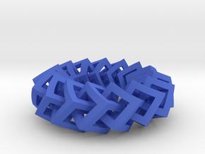 Cube Chain in Blue Processed Versatile Plastic