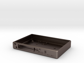 BPI R1 Banana Pi Router Case Base in Polished Bronzed Silver Steel