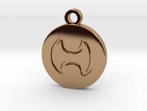 FFXIV Warrior (WAR) Pendant in Polished Brass