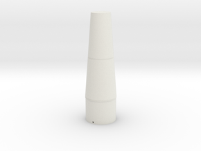 pershing 1A Nose cone for  BT-80 part1 in White Natural Versatile Plastic
