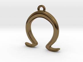 Alice's Omega Charm in Polished Bronze
