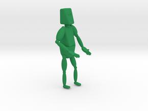 Robot in Green Processed Versatile Plastic