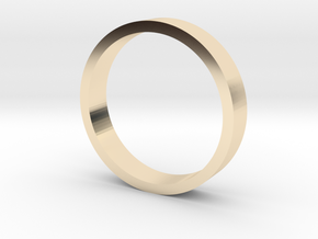 Flat band (various sizes) - 3mm wide in 14K Yellow Gold: 3 / 44