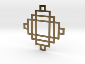 Grid 2 - Pendant in Polished Bronze