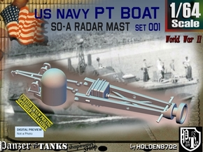 1/64 PT Boat SO-A Radar Mast set001 in Smooth Fine Detail Plastic