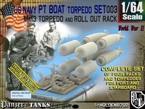 1/64 Torpedo Mk13 W Rack For PT Boat Set003 in Smooth Fine Detail Plastic