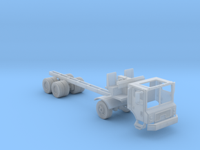 Garbage Truck Right Hand Drive Cab And Chassis in Smooth Fine Detail Plastic
