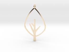 Tree - Pendant in 14K Yellow Gold