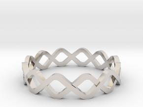DNA Ring in Rhodium Plated Brass: 10.25 / 62.125