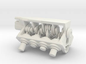 V8 Mini-engine in White Natural Versatile Plastic