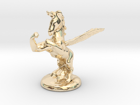 Wada Fu , The Flying Fighting Unicorn™ (small) in 14k Gold Plated Brass