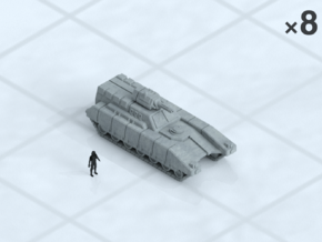 6mm Tracked IFV (8) in Smooth Fine Detail Plastic