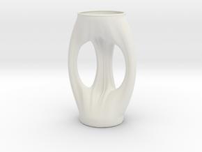 Vase 1311ND in White Natural Versatile Plastic