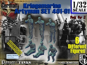 1/32 Kriegsmarine Artyman Set401-01 in Frosted Ultra Detail