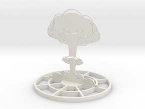Detailed Mushroom Cloud Marker Template in White Strong & Flexible
