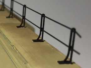 RDG Bridge Handrail Stanchions (12-pack) in Frosted Extreme Detail