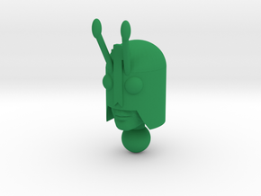 Galactic Guy head in Green Processed Versatile Plastic