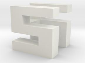 EGB-CSH Proto cube in White Natural Versatile Plastic