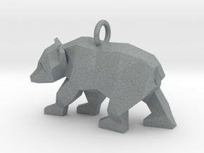 Grizzly Bear Pendant in Polished Metallic Plastic